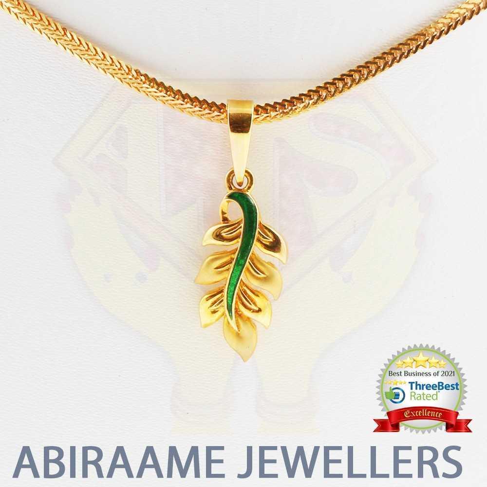 leaf locket, leaf pendant, enamel pendant, enamel locket, latest pendant designs, indian jewellery in singapore