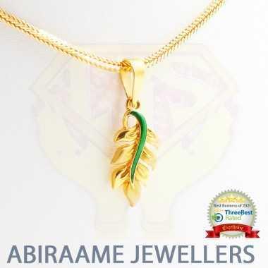 Cute Leaf Colored Gold Pendant