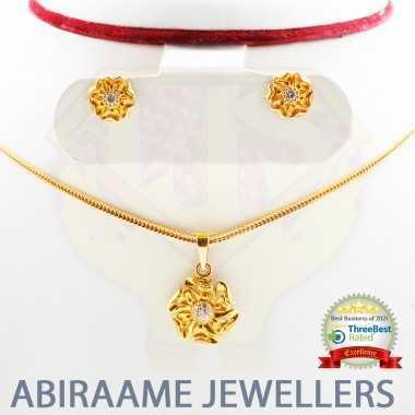 The Serene Gold Pendant Set