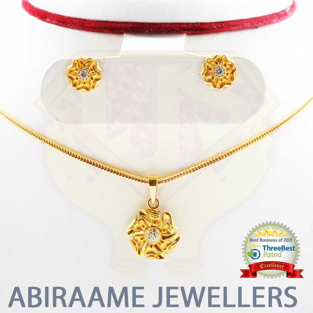 floral gold pendant, flower jewellery, abiraame jewellers, gold locket designs, gold pendant designs for female