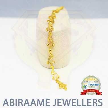 Gold Peacock Bracelet