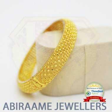 latest screw bangle designs online, latest design gold bangles, gold bangles singapore, abiraame jewellers