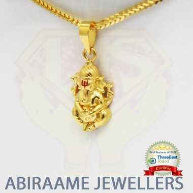 ganesha pendant, ganpati locket, ganpati pendant, vinayagar dollar, gold chain with ganesh pendant