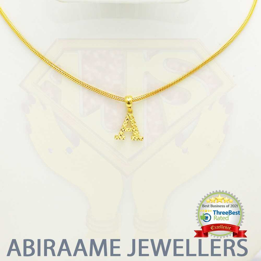 name lockets, initial necklace, letter necklace, name locket chain, letter pendant, abiraame jewellers