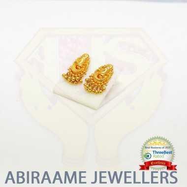 unique gold earrings design, gold drop earrings, gold dangle earrings, gold ball drop earrings