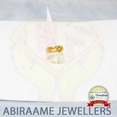 Yallow sapphire Gold Ring